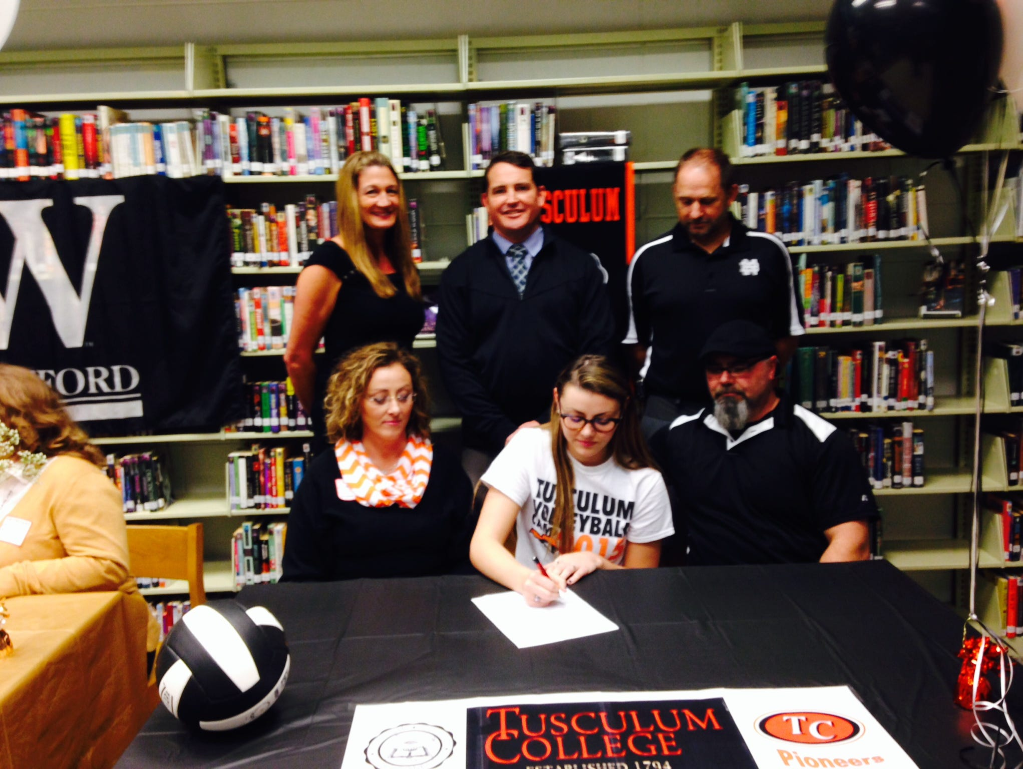 North Buncombe senior Cameron McAbee has signed to play college volleyball for Tusculum.