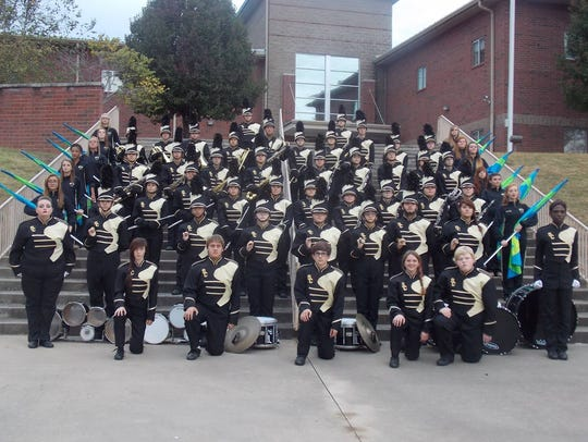 The Stewart County High School Marching Rebels Band