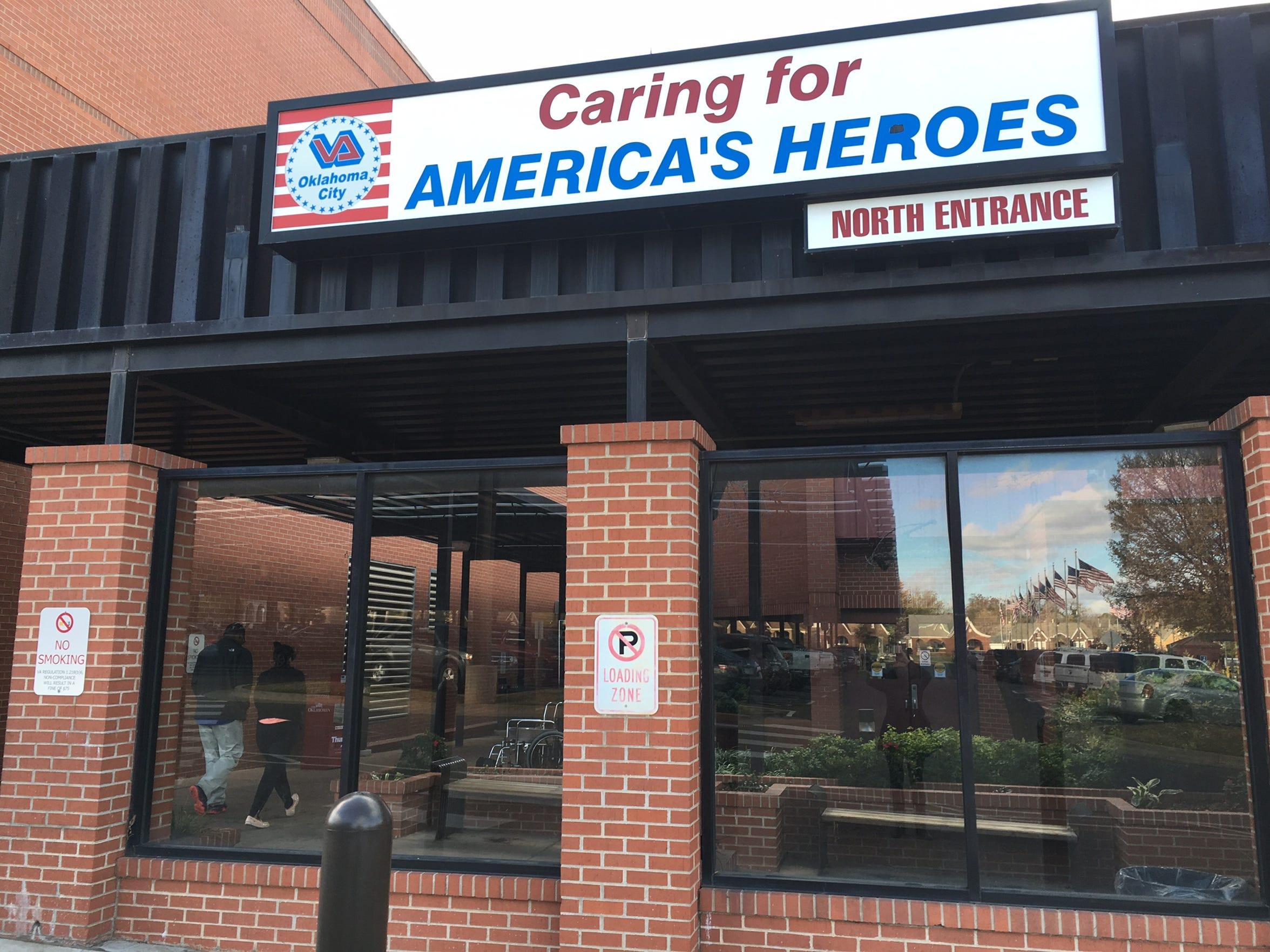 The Oklahoma City Veterans' Affairs Medical Center treats 60,000 veterans annually.