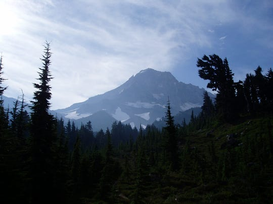 A great view of Mount Hood is seen from McNeil Point on the Timberline Trail.