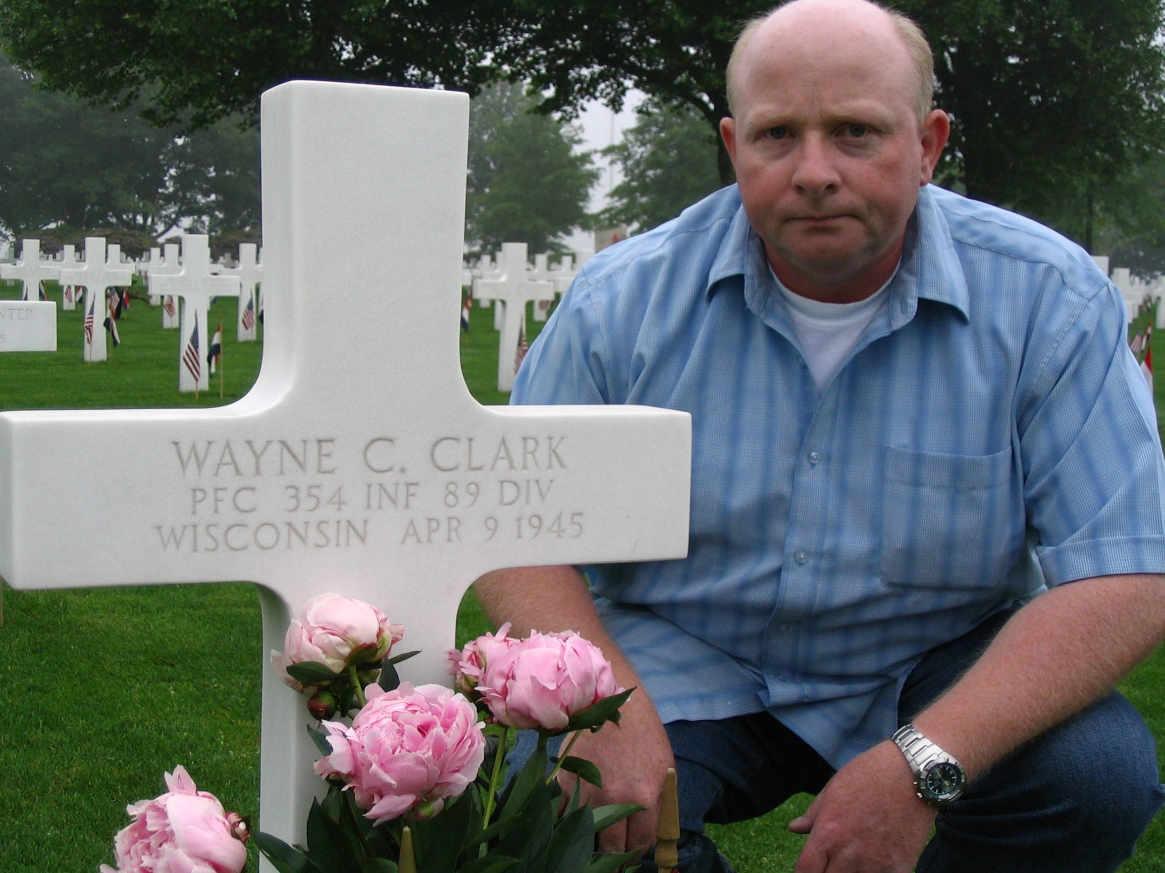 Jo Winkens of Valls, Holland, has been caring for and visiting the gravesite of Pfc. Wayne Clark for more than a decade.