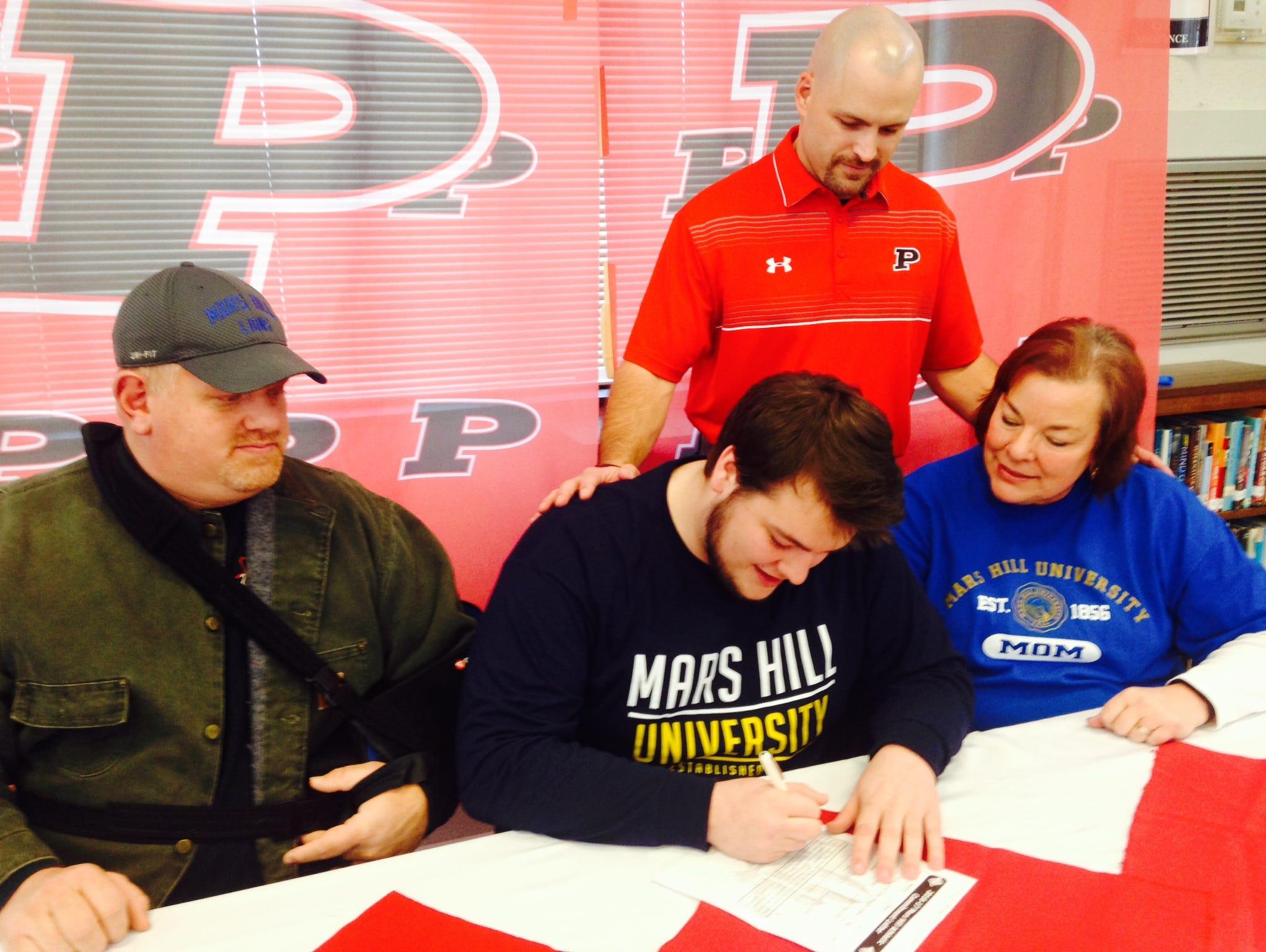 Pisgah senior David Mackey has signed to play college football for Mars Hill.