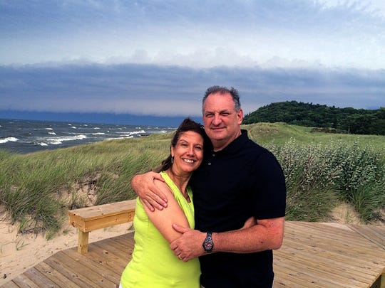 Steve and Sallie Whelan of East Lansing, whose recovery from an October crash is continuing.