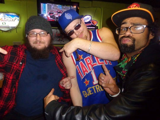From left to right ThatKidCry, DJ Jonny Blaze and DJ SMAL are contributors to Northwest Monthly, a monthly hip-hop show at The Triangle.
