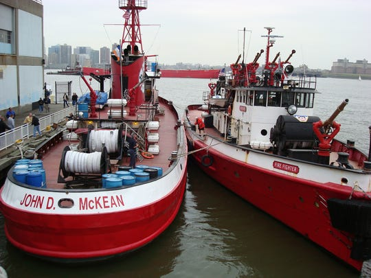 The John D. McKean boat is currently docked in the