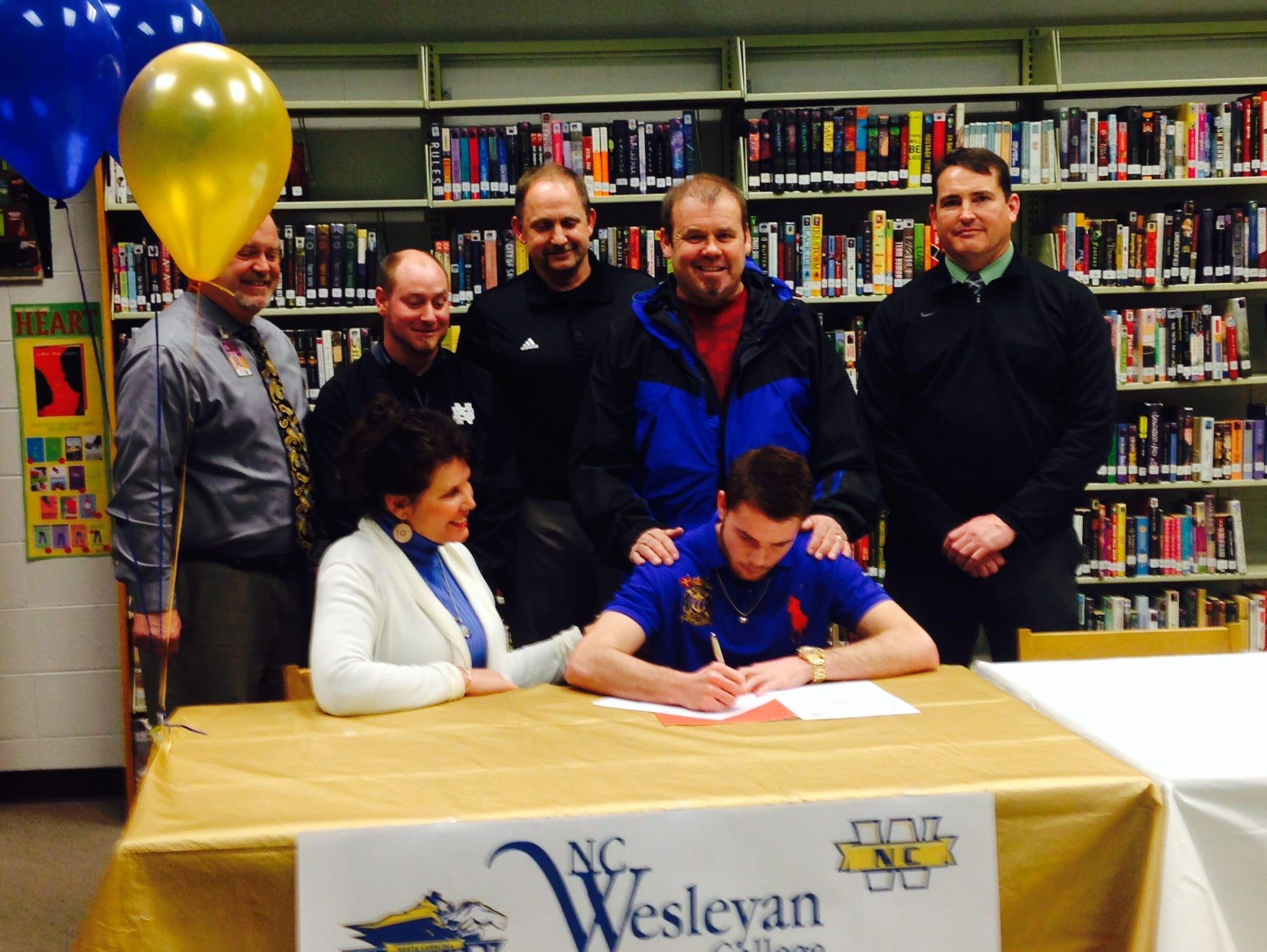 North Buncombe senior Ricky Thrash has signed to play college football for North Carolina Wesleyan.
