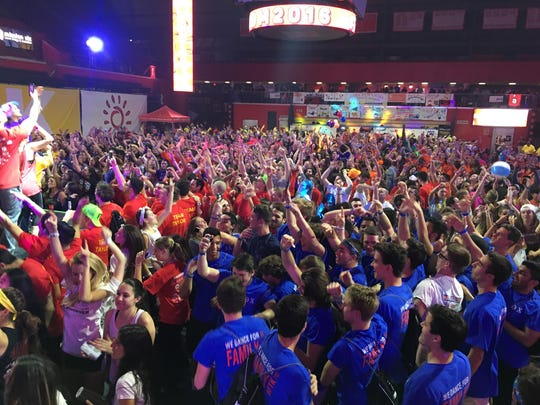 """The largest student run philanthropic event in the state, Rutgers University Dance Marathon raised a record-breaking $912,143.47 """"For The Kids."""" Benefiting the New Brunswick-based Embrace Kids Foundation, the event featured more than 1,350 student dancers and 300 volunteers."""