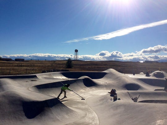Jeff Ament helped create a skate park in Browning.