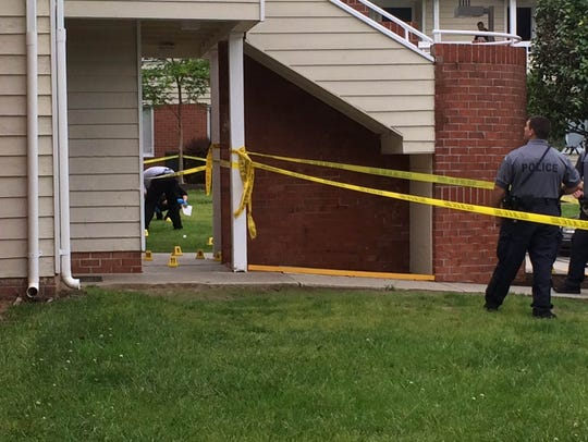 Police were on the scene of a shooting Wednesday May