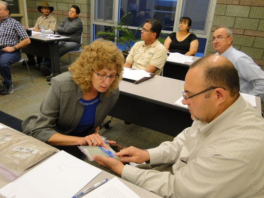 Staying on top of technology, Water Resources administrator Adrienne L. Widmer, P.E. and RES/TS administrator Carl N. Clark, P.E., sit in on a course to learn about the latest well drilling technologies.