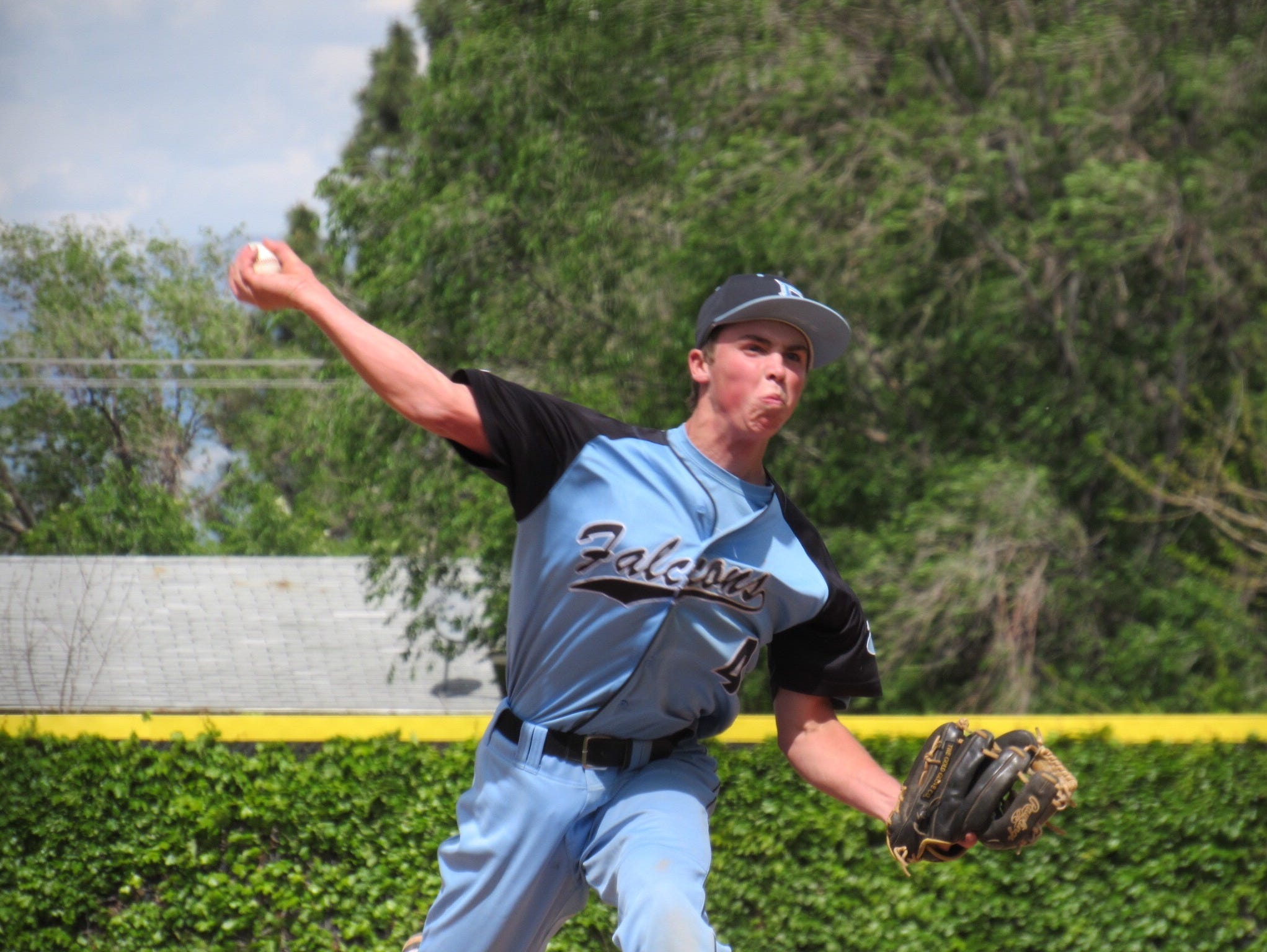 Cadyn Clark pitches in Canyon View's 4-3 win over Richfield.