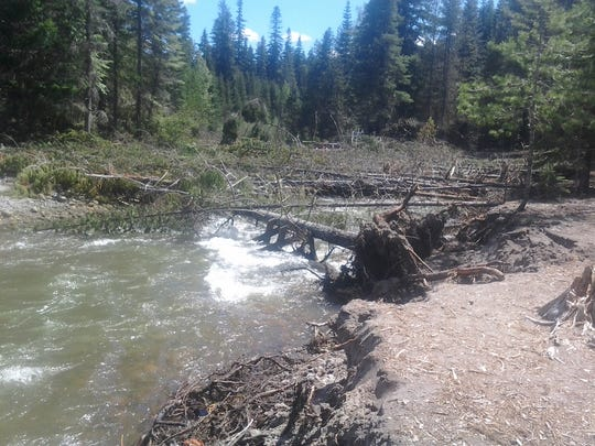 The White River has been causing havoc at a campground near Mount Hood.