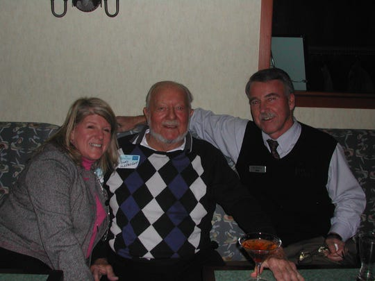 From left, Nancy Dofflemyer of Harrison Group Golf, Herb Schoellkopf, of Old Pro Golf and Joe Waters of BB&T Bank.