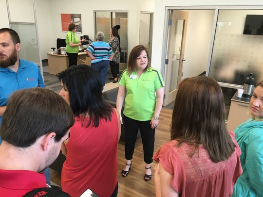 Rebecca McCall gives public tours of the new Regions