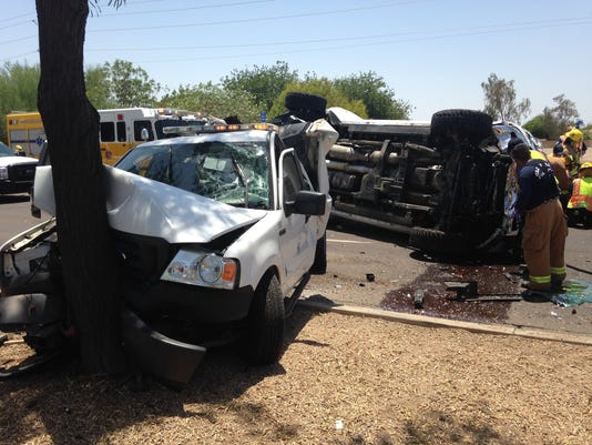 Multivehicle collision in Peoria