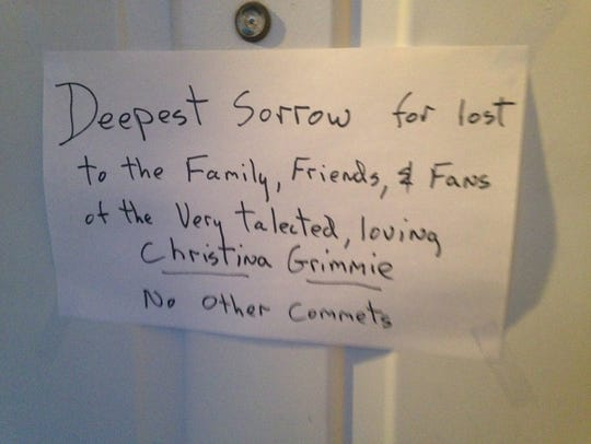 This note was left on the front door of Kevin James