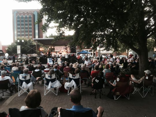 Friday Night Live, free monthly concerts in the summer
