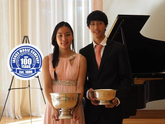 Mia and Kyle Huang of Cranbury won two prestigious awards from Princeton Festival recently.