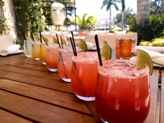An array of 11 margaritas ($10-11) beckoned, from the Mayan with its exotic Xtabentun Honey-Anise Liqueur, to the Mango, Cucumber, Guava, and Diabolita.