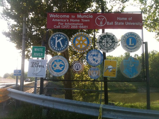 Get a final look. These signs that graced the main
