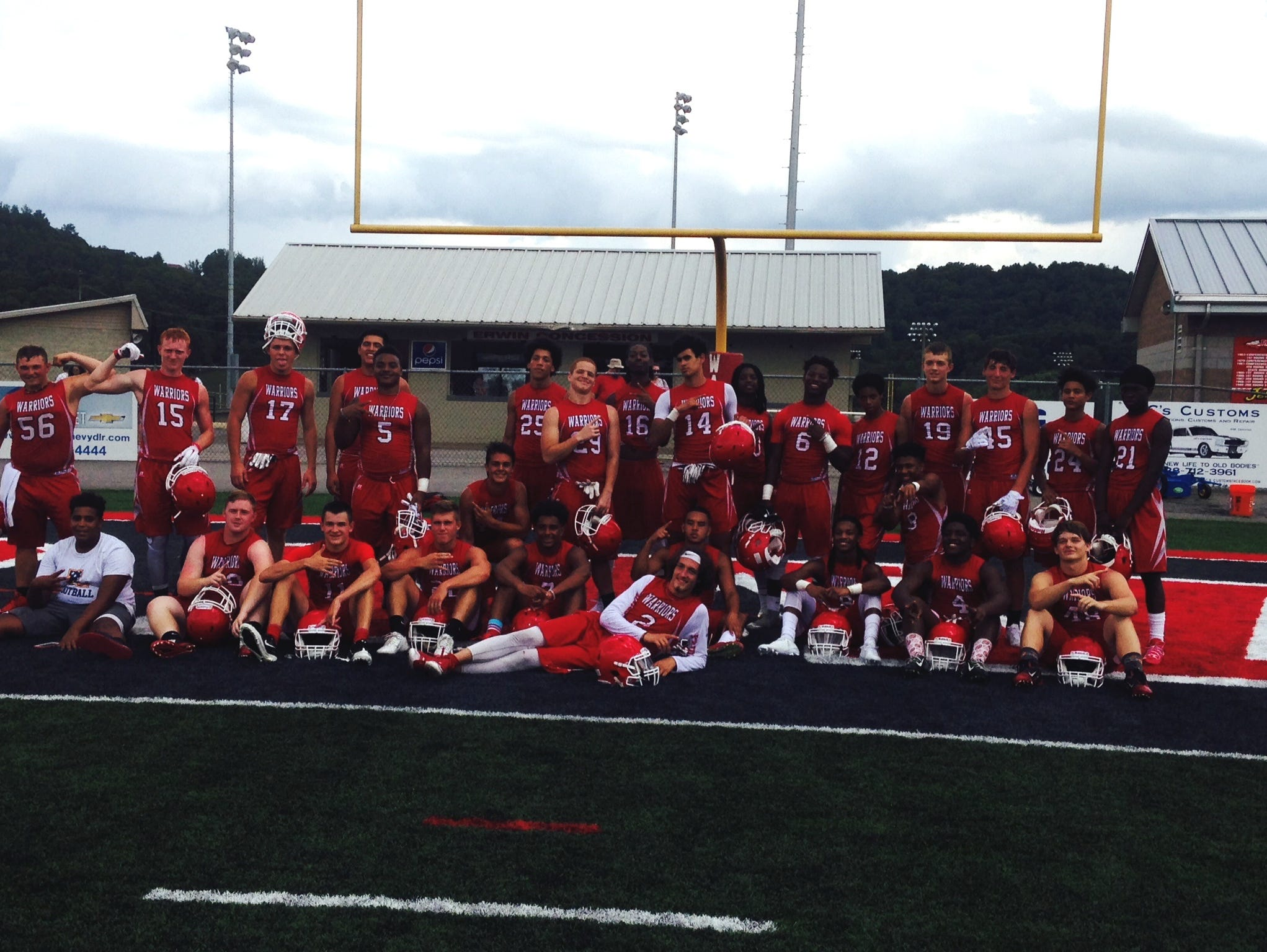 Erwin went 5-0 as the host in its games at Tuesday's Warrior 7-on-7 football tournament.