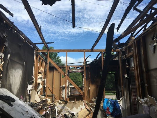 House on Rita Lane after the fire on July 6, 2016.