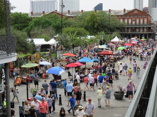 Hundreds of music fans flock to New Orleans to hear jazz, zydeco, ragtime and more at the French Quarter Music Festival in the spring.