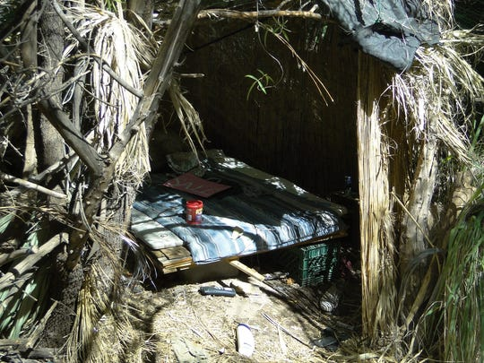 Several homeless camps were found in and near the area