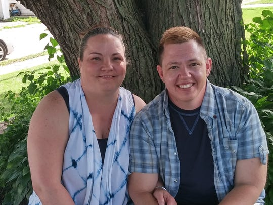 Jesse Vroegh (right) and his wife, Jackie.