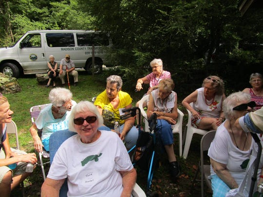 Regular visitors to eight of Madison County's meal sites gathered for the summertime tradition in Hot Springs.