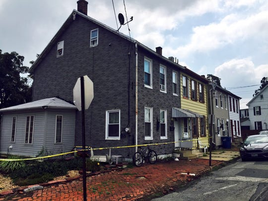 The home on Bethel Street near Ridge Avenue where Columbia Borough police on Friday arrested Marquell Rentas, 17, and Trenton Nace, 18. They have each been charged with four counts of attempted criminal homicide of a law enforcement officer.