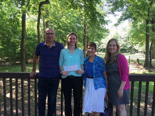 The Lisa Beth Gerstman Foundation presented a donation recently to The Gateway Family YMCA leaders. From left: Dan Gerstman, co-founder, The Lisa Beth Gerstman Foundation; Danielle Cioffi, district executive director, The Gateway Family YMCA; Jean Dattner, The Lisa Beth Gerstman Foundation; and Jessica Samolewicz, associate branch executive, The Gateway Family YMCA.