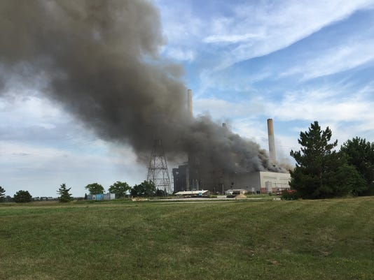 St. Clair Power Plant fire.jpeg
