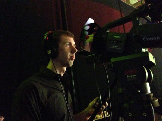 Cameron Martin while acting as a cameraman for Fairfield Studios, 2015