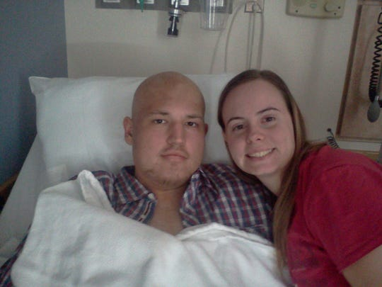 Cody Roberts, shown here with his wife, Juliana, spent months in Indianapolis during his cancer treatment. Much of that time he and his family stayed in an apartment provided by Fair Haven Foundation.