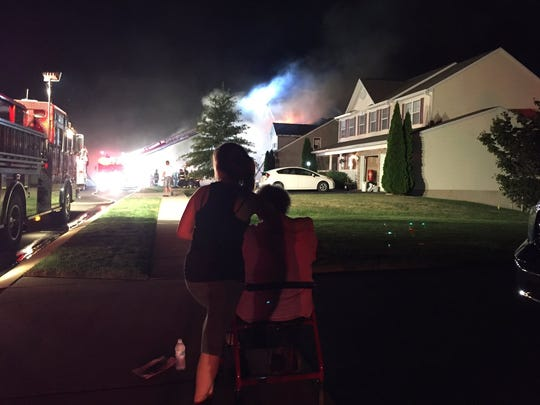 A fire on Palomino Drive was reported on Thursday night.