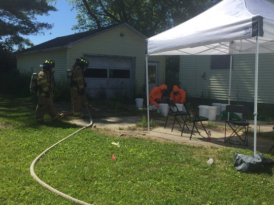 The Drug Task Force dismantles a meth lab in Port Huron Township.