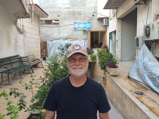 Dr. Kahler at the M10 hospital in Aleppo, Syria.