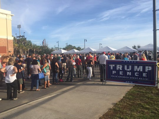 The gates have opened for Trump supporters attending