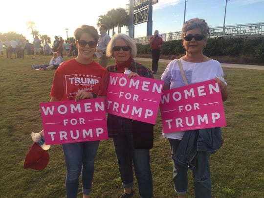 Three generations of Buckles family women say they're looking forward to seeing Donald Trump for the first time.