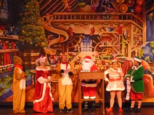 The Broadway Theatre in Pitman offers a trio of holiday shows this season. Here, elves and other creatures congregate in Santa's workshop.