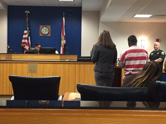 Trayvon Jackson in Martin County court in Stuart on Tuesday, Nov. 29, 2016.