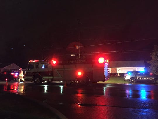 Emergency responders are on the scene where a person was struck on North George Street in East Manchester Township.