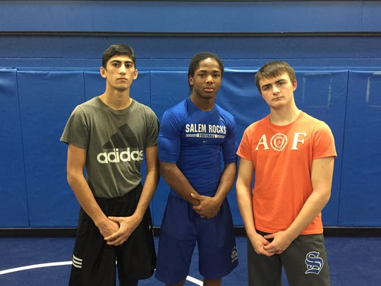 Salem wrestling's co-captains for 2016-17 are (from