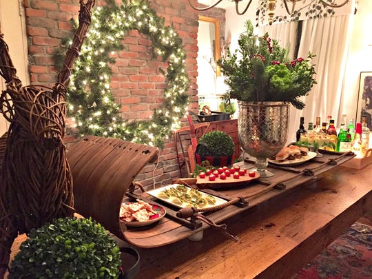 Plan on serving a variety of hors d'oeuvres at your holiday party in order to spend more time mingling with your guests.
