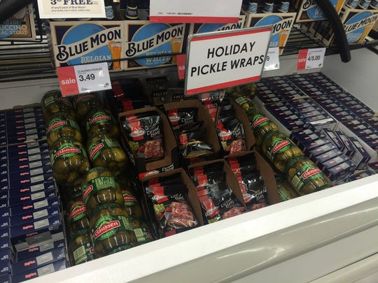 Holiday Pickle Wraps.