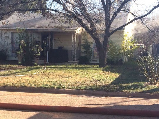 Abilene firefighters were called to a house fire in the 1300 block of Shelton Street Monday morning.