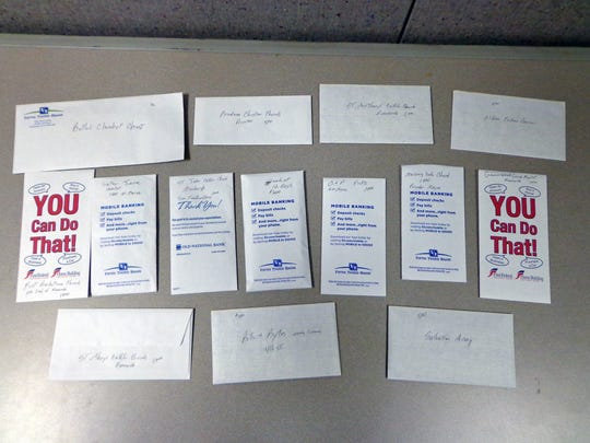 Mr. G 2016 donation envelopes.