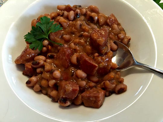 Black-Eyed Peas with Smoked Sausage may be your path to good luck for the new year.