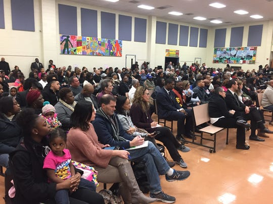 Hundreds gathered at Washington Community School in Plainfield on Thursday night to hear what city, county and state officials had to say about safety and violence.